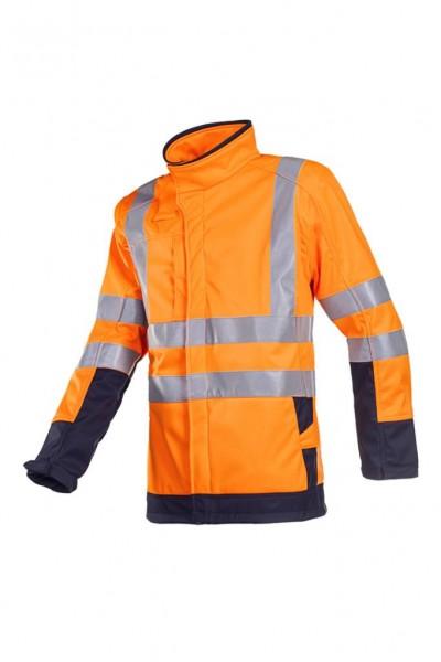 Wärmeplus Warn-Softshelljacke Playford, Störlichtbogenschutz, orange, mit Brust und Rückenlogo und N