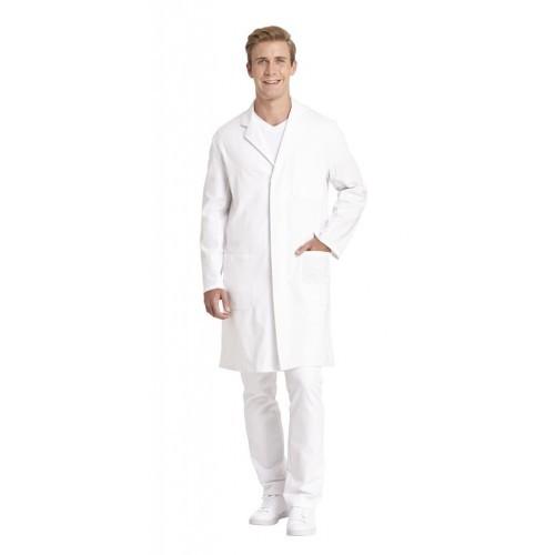 Mantel Unisex weiß 12/1166-01, 100% Baumwolle